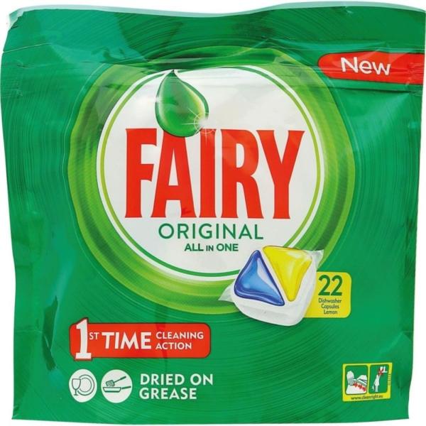 Fairy Gel original lemon caps, for dishwasher, 22caps